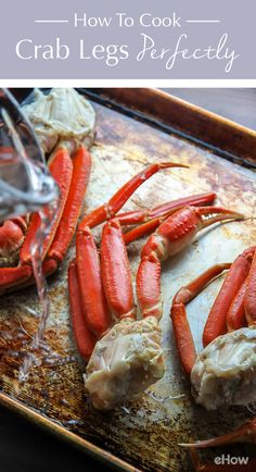 Crabs legs are delicious, healthy, and surprisingly simple to make at home. All you need is a few pounds of fresh crab legs, water, and a baking pan. I bake them for 15 minutes and they come out perfect every single time! http://www.ehow.com/how_4504704_cook-crab-legs.html?utm_source=pinterest.com&utm_medium=referral&utm_content=freestyle&utm_campaign=fanpage