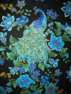 Peacock quilt on etsy.