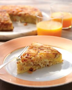 Potato-Onion Frittata  This substantial frittata is an all-in-one breakfast that includes eggs, potatoes, and sharp cheddar cheese.