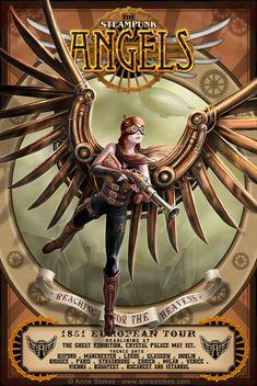 Steampunk Angels by *Ironshod on deviantART