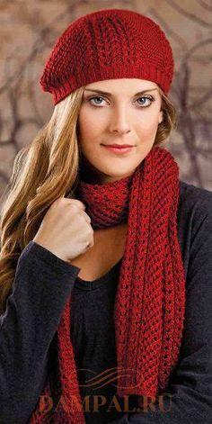 женские шапка и шарф