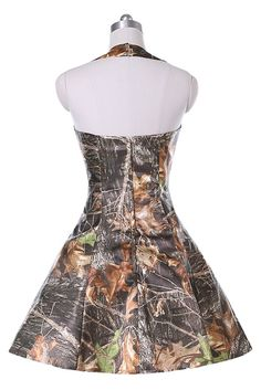 bedc79762e3 Angel Bride Camo Hi-Low with Retro Bridesmaid Dress Camouflage Prom Gowns