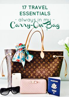 From beauty products to gadgets, these are the globetrotter essentials I always have in my carry on bag!
