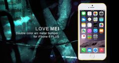 LOVE MEI® Double Color Arc Metal Bumper for iPhone 6 Plus