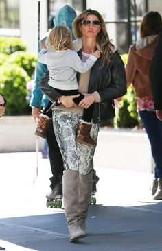 Our Mother's Day muse? Gisele Bündchen (of course) looking gorgeous in the ROCKERCHIC boot, with daughter Vivian. #inourshoes