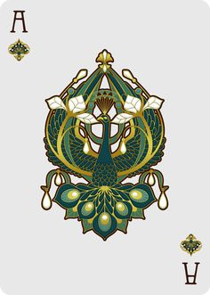 Nouveau BIJOUX Ace of Spades - playing cards art, game, playing cards collection, playing cards project, cards collectors, design, illustration, card game, game, cards, cardist, cardistry, bijoux, jewelry