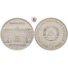 DDR, 5 Mark 1986, Sanssouci, st, J. 1609: Kupfer-Nickel-5 Mark 1986. Sanssouci. J. 1609; stempelfrisch 7,00€ #coins