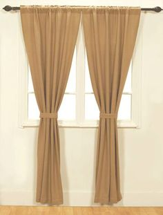"Create a natural look in your home with our Burlap Natural Panel Curtains 84""! These panels will also be able to provide some privacy for you and your family. https://www.primitivestarquiltshop.com/products/burlap-natural-panel-curtains-84 #countrystylecurtains"