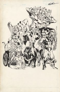 brianmichaelbendis:  X-Men unused pin up by Michael Golden.