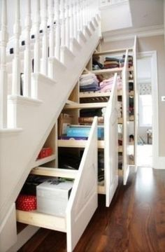 hidden storage under the stairs