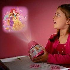Lámpara de mesa Infantil LED - Proyector Princesas Disney