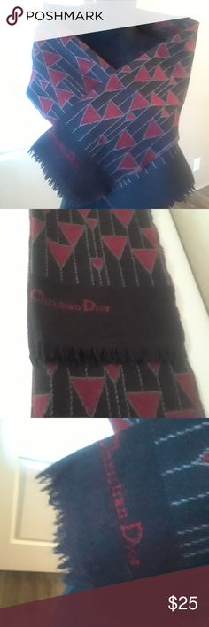 Cristian Dior Scarf Red & Black Cristian Dior Beautiful Scarf. Excellent condition. Christian Dior Accessories Scarves & Wraps