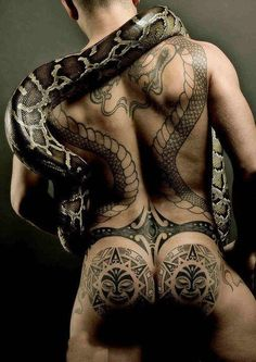Tattoo and Real Snake
