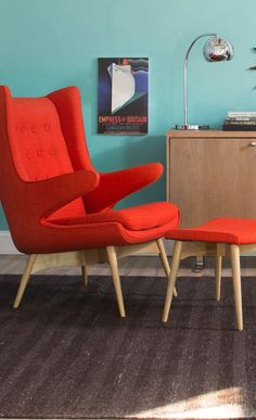 70s inspired red chair