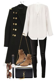"""Untitled #8401"" by nikka-phillips ❤ liked on Polyvore featuring rag & bone/JEAN, rag & bone, Yves Saint Laurent, Wildfox, Topshop and Daniel Wellington"
