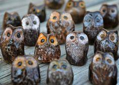 "Tutorial on how to make A ""parliament"" of cute little ceramic owls!  Pinned by www.myowlbarn.com"