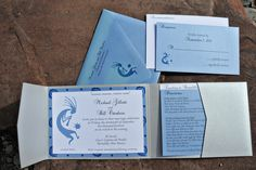 Southwest Wedding Invitation created and designed by Differently Designed custom wedding invitations New Mexico - Differently Designed Invitations and Stationery Albuquerque www.differentlyde... #DifferentlyDesignedNM #Weddings #WeddingInvitations #CustomInvitations