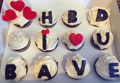 "Birthday cupcakes I got for ""bave"" on his birthday #cupcakes #birthday #cake #boyfriend"