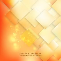 Orange Geometric Square Background #freevectors