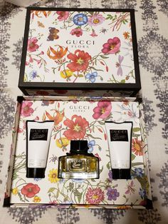 Brand new, never used Gucci Flora gift set  Perfume & 2 body lotions  Retails @ $123 Free ship!! Flora Gucci, Gaming Room Setup, Victoria Secret Perfume, Perfume Collection, Makeup Obsession, Ruby Rose, Body Lotions, Designer Collection, Branding Design