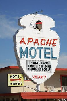 "Route 66 - Apache Motel, Tucumcari, New Mexico. ""The Fine Art Photography of Frank Romeo."""