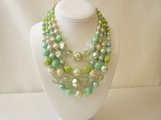 Vintage 5 Strand Bead Necklace in Shades by Vintageby1980sExcess, $35.00