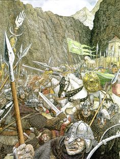Theoden's Charge at Helm's Deep - Timothy Ide Lotr, Helms Deep, Fantastic Voyage, The Two Towers, Jrr Tolkien, Dark Lord, Pulp Art, Middle Earth, Lord Of The Rings