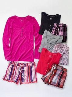 The Tee-jama Boxer Pajama - Victoria's Secret Cute Pajama Sets, Cute Pajamas, Pajamas Women, Comfy Pajamas, Pj Sets, Victoria Secret Outfits, Camo Outfits, Night Suit, Tight Leggings