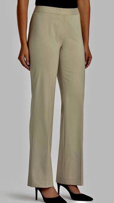 Lafayette 148 New York Menswear Wool Lined Beige Pants Plus Size 24W NWT $398 #Lafayette148 #CasualPants