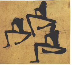 Egon Schiele | Komposition dreier Männerakte | 1908