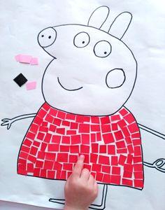 He encontrado la manualidad más divertida y entretenida para los niños! hacer dibujos y decorarlos con mosaico de papel!