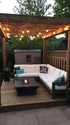 Cozy Backyard, Backyard Seating, Backyard Patio Designs, Backyard Pergola, Pergola Plans, Patio Privacy, Patio Stone, Flagstone Patio, Deck Patio