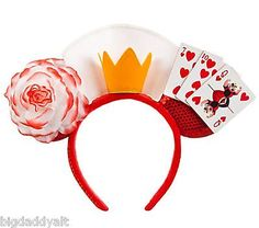 NEW Disney Villains Queen of Hearts Alice in Wonderland Mickey Ear Headband Hat<<< I got this one the last time I went to Disneyland. It's a lot heavier than it looks.