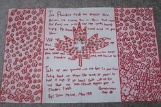 Remembrance Day Art - Our Lady of Assumption Remembrance Day Activities, Remembrance Day Art, Grade 1 Art, Grade 2, Autumn Activities For Kids, Art Activities, After School Daycare, Holiday Fun, Holiday Ideas