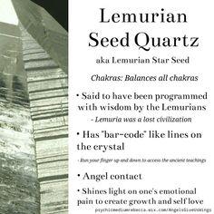 Lemurian Seed Quartz (Lemurian Star Seed) crystal meaning