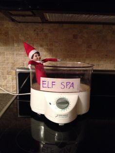 Elf on the Shelf idea - spa day!