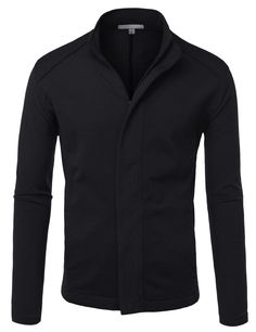 LE3NO Mens Premium Zip Up Jacket with Stretch