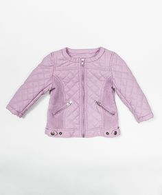 This Lavender Faux Leather Jacket - Toddler & Girls by Trish Scully Child is perfect! #zulilyfinds
