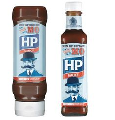 British brand HP Sauce has launched a limited edition bottle for Movember, with the packaging saying 'Men of Britain Grow your Mo'.