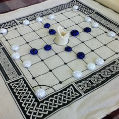 Close up of our Fidchell game http://historicgames.com