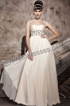 Floor Length Spaghetti Skin Pink Chiffon A-line Evening Dress  http://www.mypromdresses.co.uk
