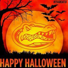 Happy Halloween from the Florida Gators Fla Gators, Florida Gators Football, Gator Football, College Football, College Sport, Football Stuff, Lsu, Holidays Halloween, Happy Halloween