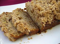 Unique and Yummy Banana Crunch Bread from Food.com:  						Every time I make this bread, someone thinks its an old family secret and I have been told by many that it is the best banana bread ever.   I originally found it in a magazine 10 years ago.  The ginger adds a unique taste and the crunch topping is very yummy.