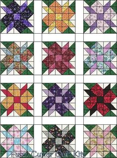 Scrappy Fabric Calico Flowers Easy Patchwork Pre-Cut Quilt Blocks Top Kit Squares Floral Quilting Material