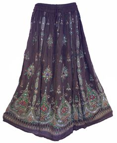 Brown Earth Tone Skirt Boho Gypsy Skirt by anjiscollection on Etsy
