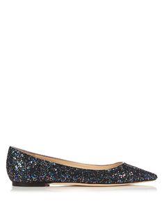 JIMMY CHOO Romy Glitter Flats. #jimmychoo #shoes #flats