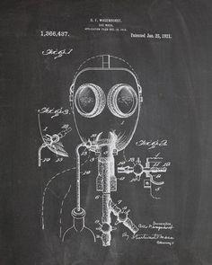 Gas Mask Patent Print - IndustrialPrints