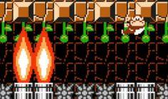 Super Mario Maker | Waiting for Burners on Vines
