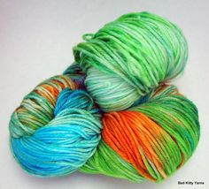 Pretty yarn.  I don't knit, and I don't crochet very much, but pretty yarn makes me happy!