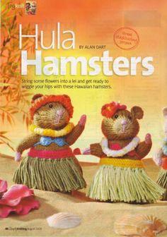 Hula Hamsters by Alan Dart Toy Knitting Pattern (Simply Knitting Magazine Pull Out Pattern) by Alan Dart, http://www.amazon.co.uk/dp/B004TPHQA4/ref=cm_sw_r_pi_dp_H8Mitb0FCJG7G